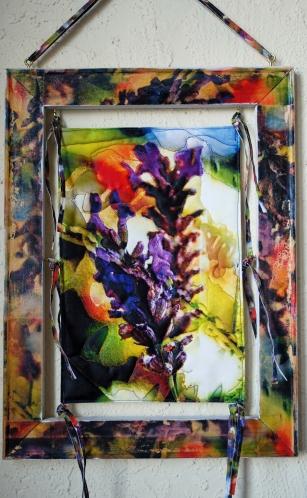 Lavender rust quilt