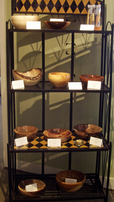 David Earls' wooden bowls and pens