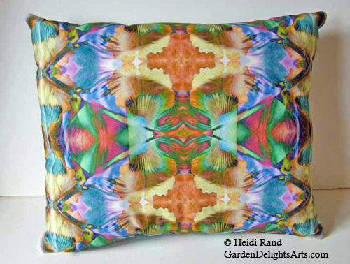 Pillow made with inkjet print fabric