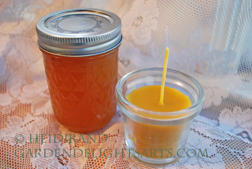 Honey and beeswax candle