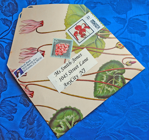 Upcycled handmade envelope
