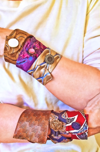 Upcycling Neckties Into Bracelets
